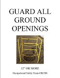 guard ground openings