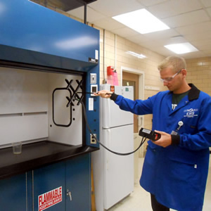Fume Hood Testing Scheduled for Natural Science